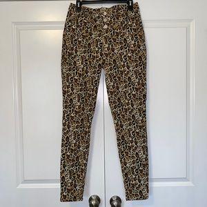Leopard Print No Boundaries Mid Rise Skinny Pants
